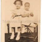 Vintage Two Precious African-American Young Girls Studio Photo Black Americana