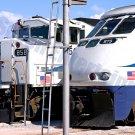 Train 8x12 Color Photo California Locomotive Metrolink Railroad Original Vintage