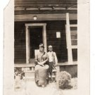 Antique African American Photo Pretty Woman with Child Women Old Black Americana