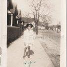 1940s-50s Vintage African-American Boy w/ Hat & Eyes Closed Photo Black Children
