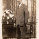 Antique African American Handsome Man Real Photo Postcard RPPC Black Americana