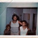 1970s Vintage African-American Mother w/Daughters Eyes Closed Photo Black People
