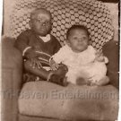 Vintage African-American Children On Couch Photo Black People Old Americana USA