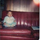 1975 Cute African-American Baby Sitting On Couch Old Photo Black People Color
