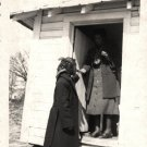 Vintage African American Photo Woman Porch Women in Coats Old Black Americana