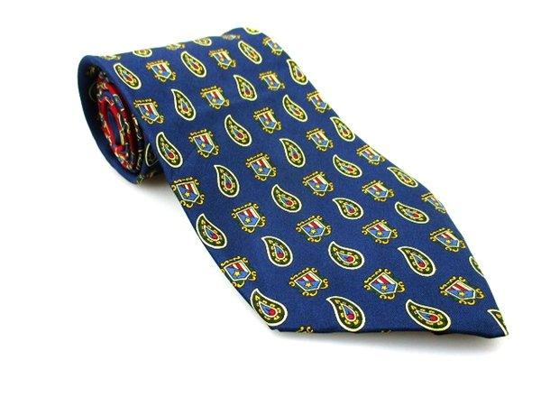 TOMMY HILFIGER Men's New 100% Silk Tie Blue Red Yellow NWOT Necktie Ties BL0169