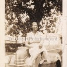1940s Vintage African-American Woman Looking Glamorous & Classy On Car Photo USA