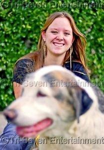 Girl Dog Photo 8x10 Matte Color Snapshot Teens Small Unframed Original US