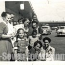 Vintage African American Family Together Old Group Photo Women Black Americana