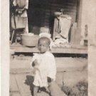 Vintage African American Photo Boy Child Posing Children Old Black Americana