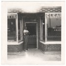 1950s Vintage Handsome African-American Man Standing in Front of Store Old Photo