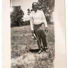 1950s African American Older Man Hat Vintage Old Photo Black Handsome Men People