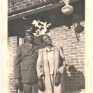 1941 Vintage Photo of African-American Soldier and Woman Black Americana Hotel