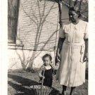 1940-50s Vintage African-American Grandma w/Toddler Girl Old Photo Black People