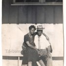 40s Pretty African American Woman Man Hat Couple Vintage Old Photo Black People