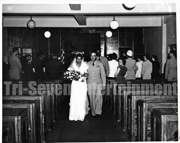 Vintage African American Woman Man Wedding Couple Old 8x10 Photo Black Americana