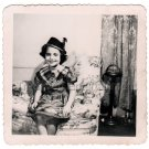 1940-1949 Vintage Smiling American Girl Photo Kid Children Black and White USA