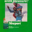 1980s Vintage African-American Newport Cigarettes Print Ad Photo Clipping