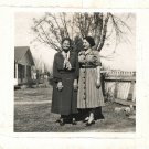 Vintage African American Older Woman with Friend Old Photo Black Americana