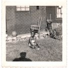 1950s-60s Cute Smiling African-American Young Girl On Grass Photo Black Children