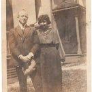 1920s Antique Pretty African American Biracial Couple Man Woman Black Americana