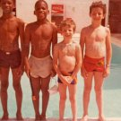 "1980 Vintage African American & White Children ""Best Friends"" Together Photo USA"