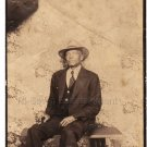 1940s Well-Dressed Older African-American Man Large Photo Booth Black Americana