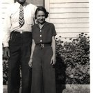 Vintage African American Photo Cute Couple Man Pretty Woman Old Black Americana