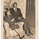 Vintage African American Husband Wife Christmas Communion Old Photo Black People