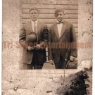 Antique African-American Men Suits Real Photo Postcard RPPC Old Black Americana