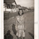 40s Vintage Smiling African American Woman Posing Eyes Closed Photo Black People