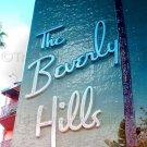 Beverly Hills Hotel Art Photo 8x12 Color Sign Original California Hollywood USA