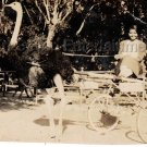 1930s Antique Pretty African-American Woman at Cawston Ostrich Farm Old Photo