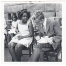 Vintage African American Photo Pretty Young Girl w/ White Man Black Americana