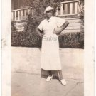 1936 Fashionable African-American Woman Posing Dress Old Photo Black Americana