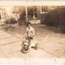 1943 Vintage Photo Cute African-American Boy Tricycle Black Americana Children