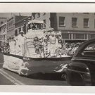 1949 Vintage Parade Old Photo 4th of July Holiday Float People Americana Picture
