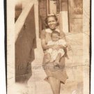 1940-1949 Vintage Young African-American Mother w/Happy Baby Photo Black People