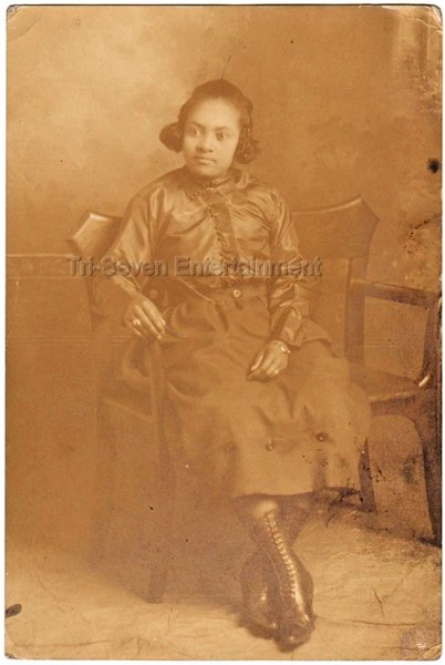 Beautiful African American Woman Fancy Dress Boots Antique Photo Black Americana