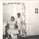 1950s-60s African-American Mother in Chair Poses w/Daughter Photo Black People