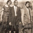 Antique Photo Good Looking Young African American Friends Black Americana People