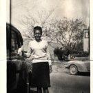 Vintage African American Photo Pretty Teenage School Girl Old Black Americana