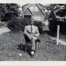 Vintage African-American Man Sitting in Chair Photo Black People Old Americana