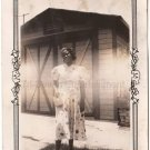 1937 Antique African American Young Woman Pretty Dress Old Photo Black Americana