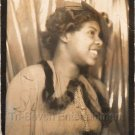 Vintage Stylish African American Young Woman Photo Booth Black Americana People