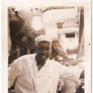 Vintage African American Photo Chef Cook Man Kitchen People Old Black Americana