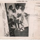 1954 Vintage Pretty African-American Mother w/Children Old Photo Black Americana