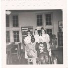1940-1949 Vintage African-American Man w/White Women Photo Party Hats Group USA