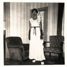 Vintage African American Photo Pretty Woman in Lovely Dress Old Black Americana