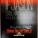 Melanie Kinnaman & Shavar Ross Signed Friday the 13th Part 5 18x24 Poster (New)